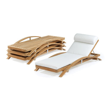 SD345  Stacking Adjustable Chaise With Cushion
