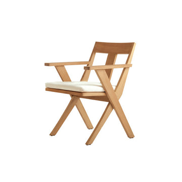 X509  Dining Arm Chair With Seat Cushion