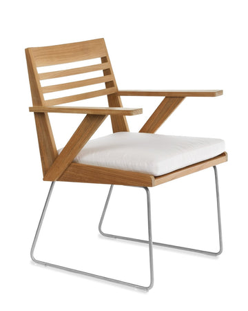 BR601  Dining Arm Chair With Seat Cushion (3D+AR)
