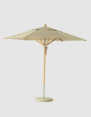 SU500 Umbrella - 9 foot Diameter with Taupe Canopy (3D+AR)
