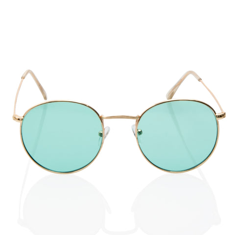 Cute Trendy Round Blue Transparent Sunglasses