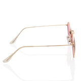 Cute Trendy Round Pink Sunglasses
