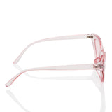 Clear Cat Eye Fashion Sunglasses - Pink Transparent Lens