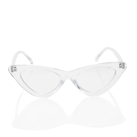 Clear Cat Eye Fashion Lens