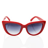 Vintage Inspired Fashion Mod Chic High Pointed Cat Eye Red Sunglasses