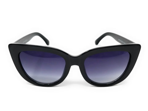 Vintage Inspired Fashion Mod Chic High Pointed Cat Eye Black Ombre Sunglasses