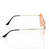 Sexy Pointed Cat Eye Orange Transparent Lens Sunglasses