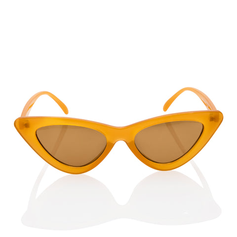 Cat Eye Stylish Hipster Light Brown Sunglasses