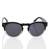 Vintage Retro Black Round with Black/White 2 Tone Frame