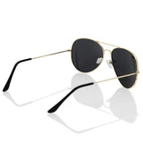 Metal Aviator Sunglasses with Gold Frame