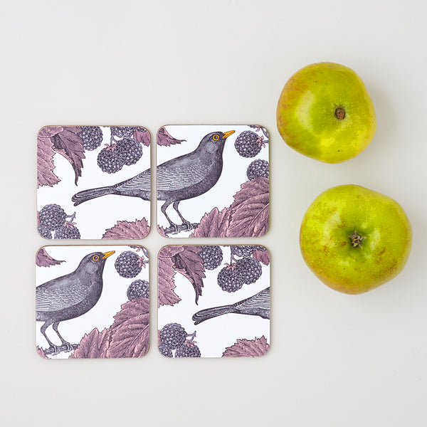 Blackbird & Bramble Coaster Set of Four