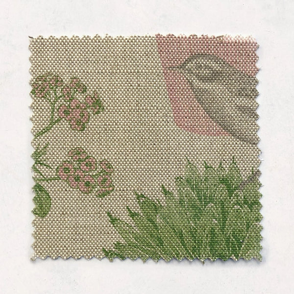 Cactus & Bird Fabric on Oatmeal Linen