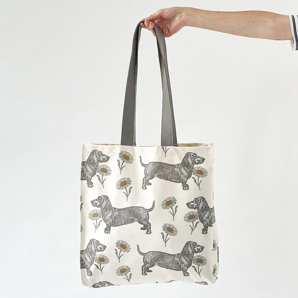 Dog & Daisy Tote Bag
