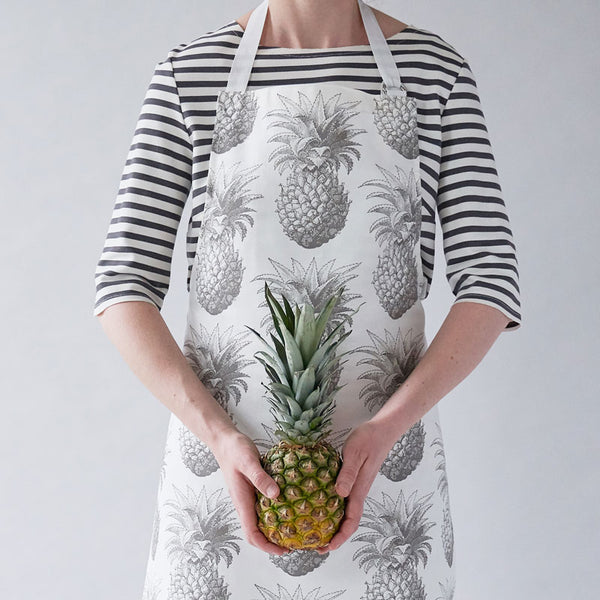 Grey Pineapple Apron