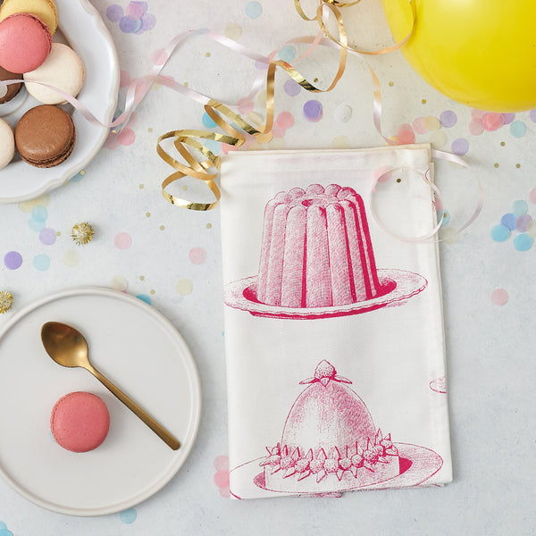 Pink Jelly & Cake Napkin Set of Four