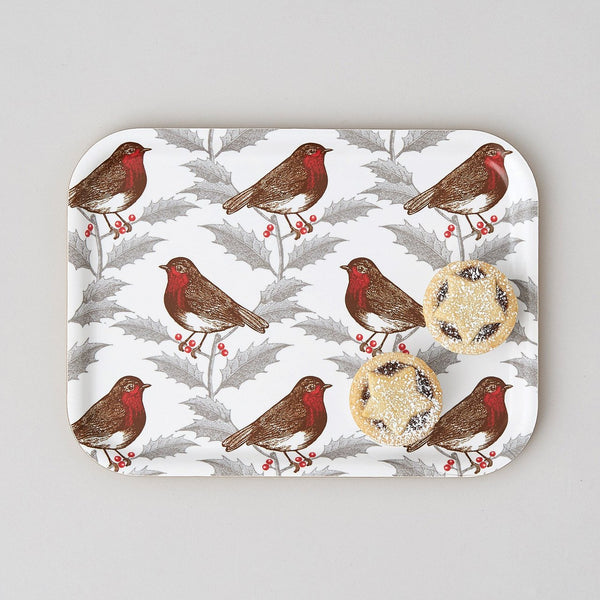Robin & Holly Small Tray