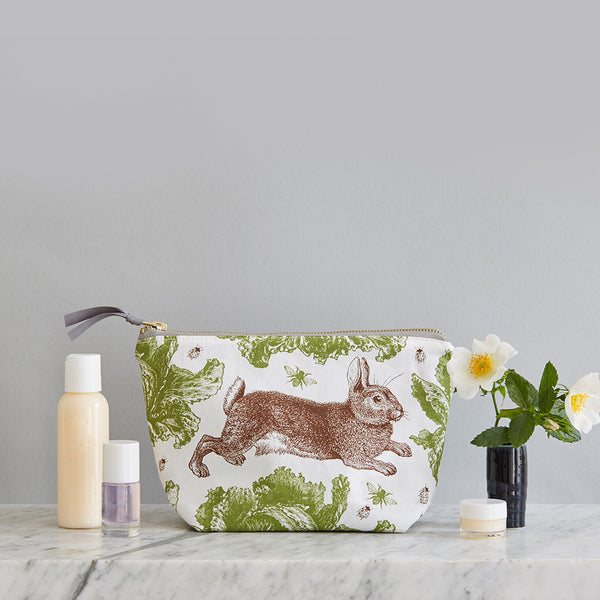 Classic Rabbit & Cabbage Cosmetic Bag