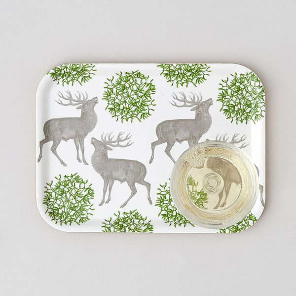 Stag & Mistletoe Small Tray