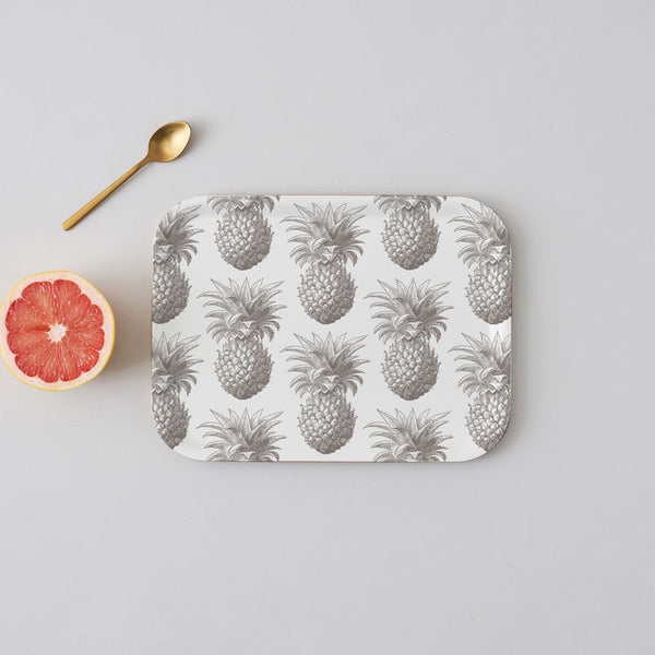 Grey Pineapple Small Tray