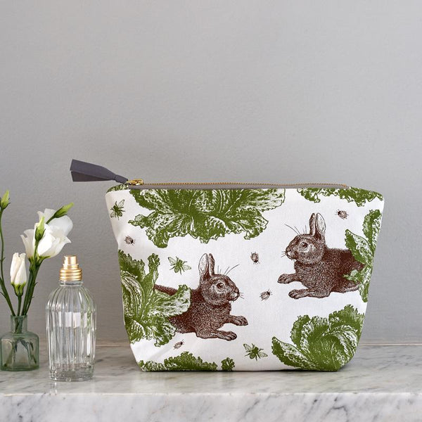 Classic Rabbit & Cabbage Large Cosmetic Bag