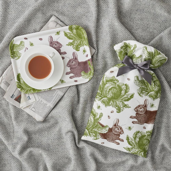 Classic Rabbit & Cabbage Hot Water Bottle
