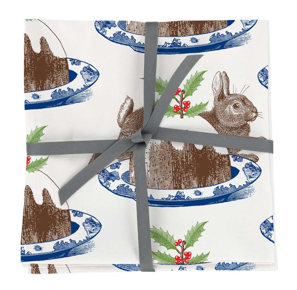 Christmas Pudding Napkin Set of Four