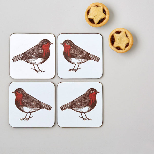 Robin Coaster Set of Four