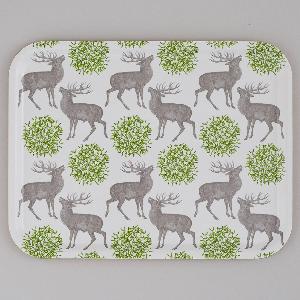Stag & Mistletoe Large Tray