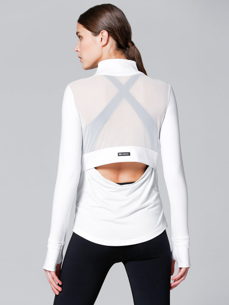 AIR JACKET, WHITE/WHITE MESH
