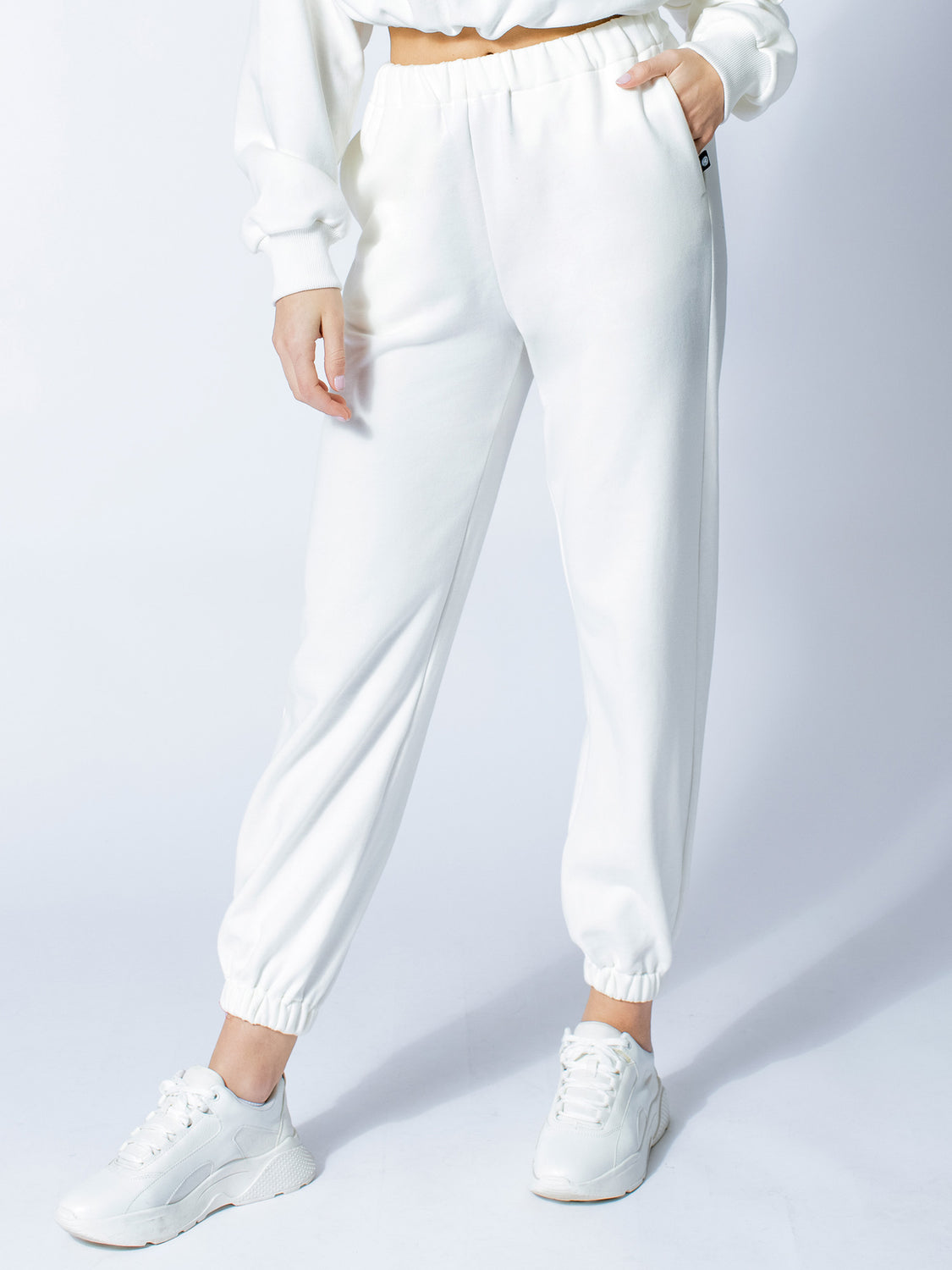 COTTON SWEATPANTS, WHITE