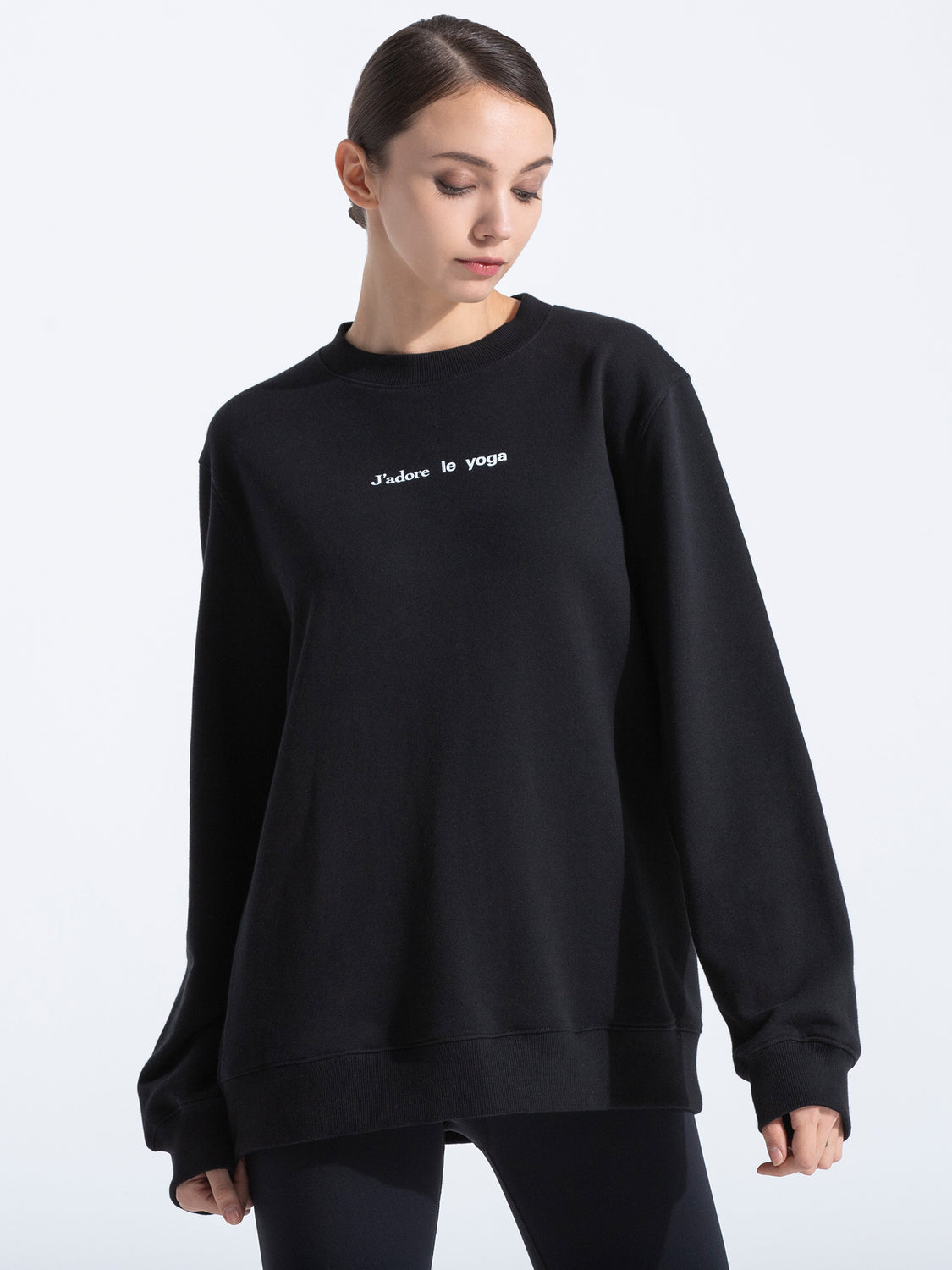 FRENCH YOGA SWEATSHIRT, BLACK