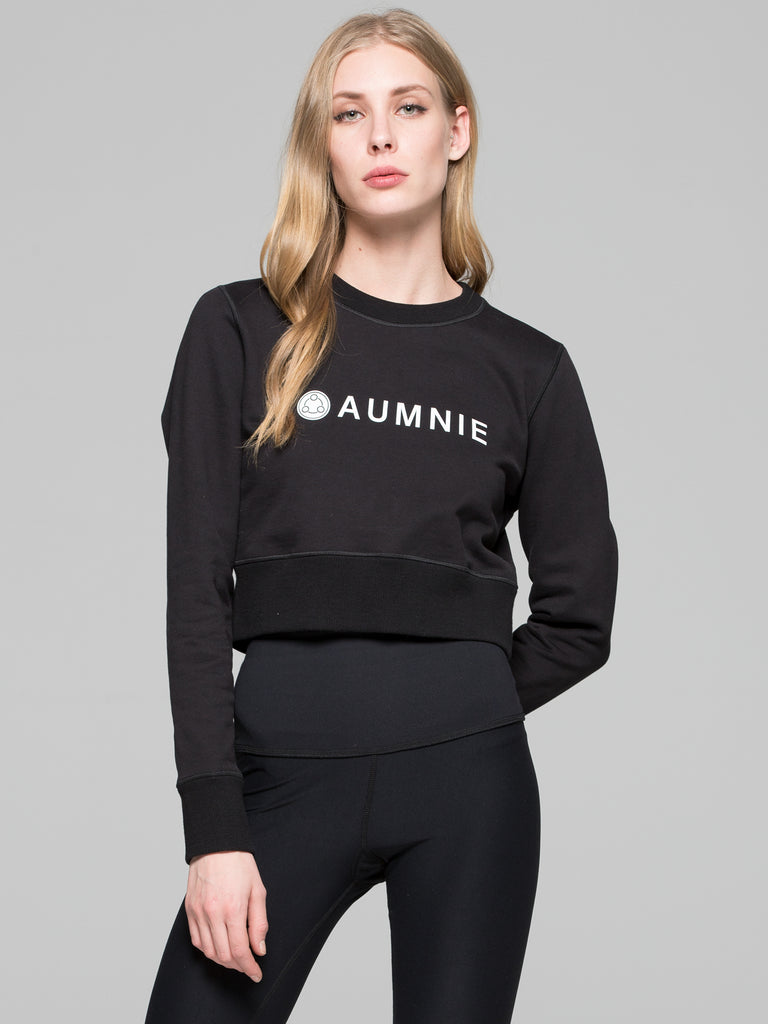 CROPPED SWEATSHIRT, BLACK