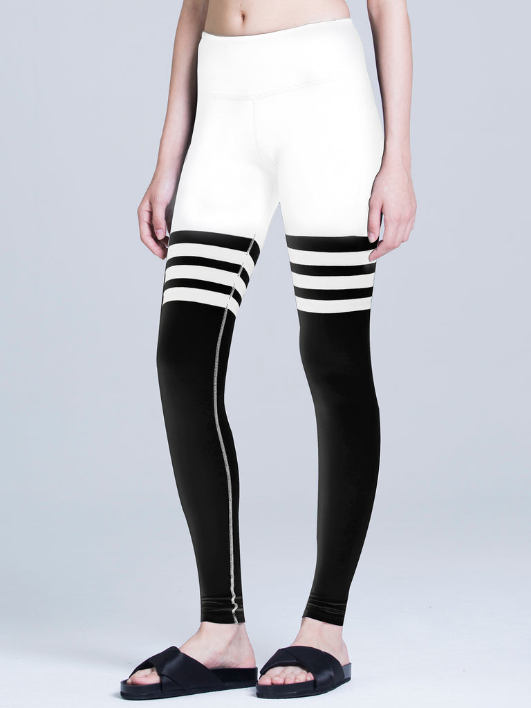 ICON PANTS, WHITE/BLACK