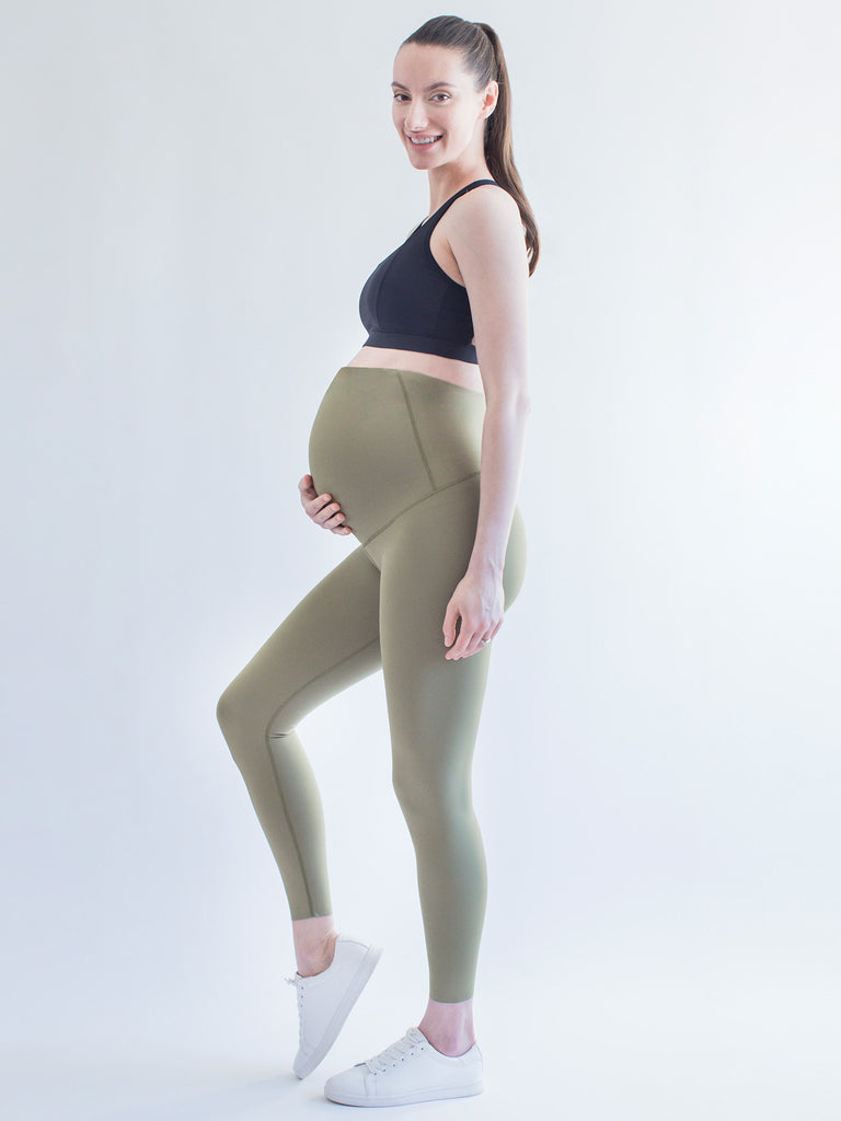OVER THE BUMP MATERNITY SHAPE PANTS, SAGE