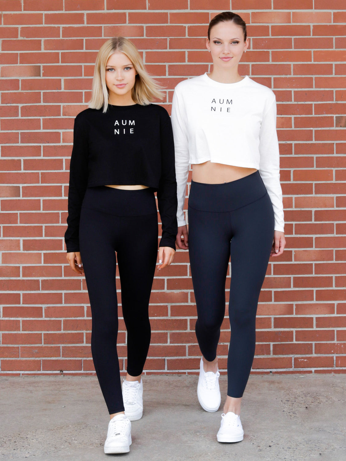 LONG SLEEVE COTTON CROP TOP, WHITE
