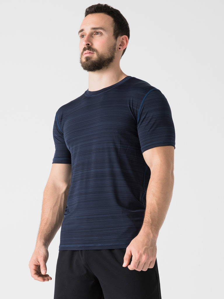 ATHLETE TEE, NAVY WFX