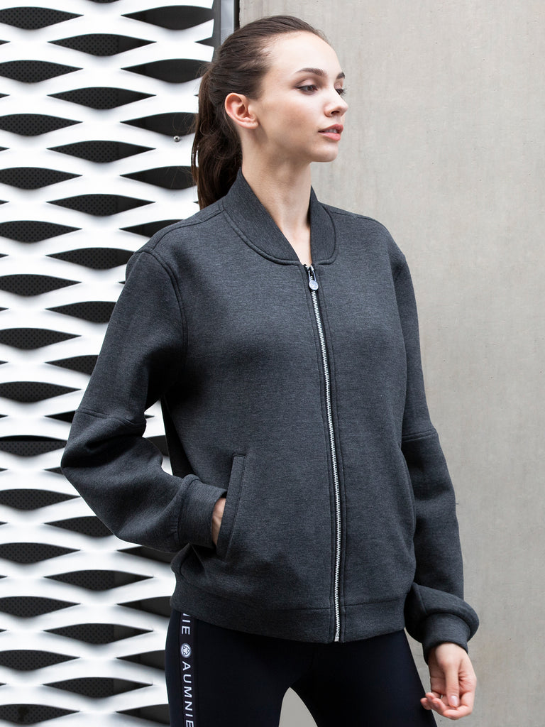 BASEBALL JACKET, GREY NEO