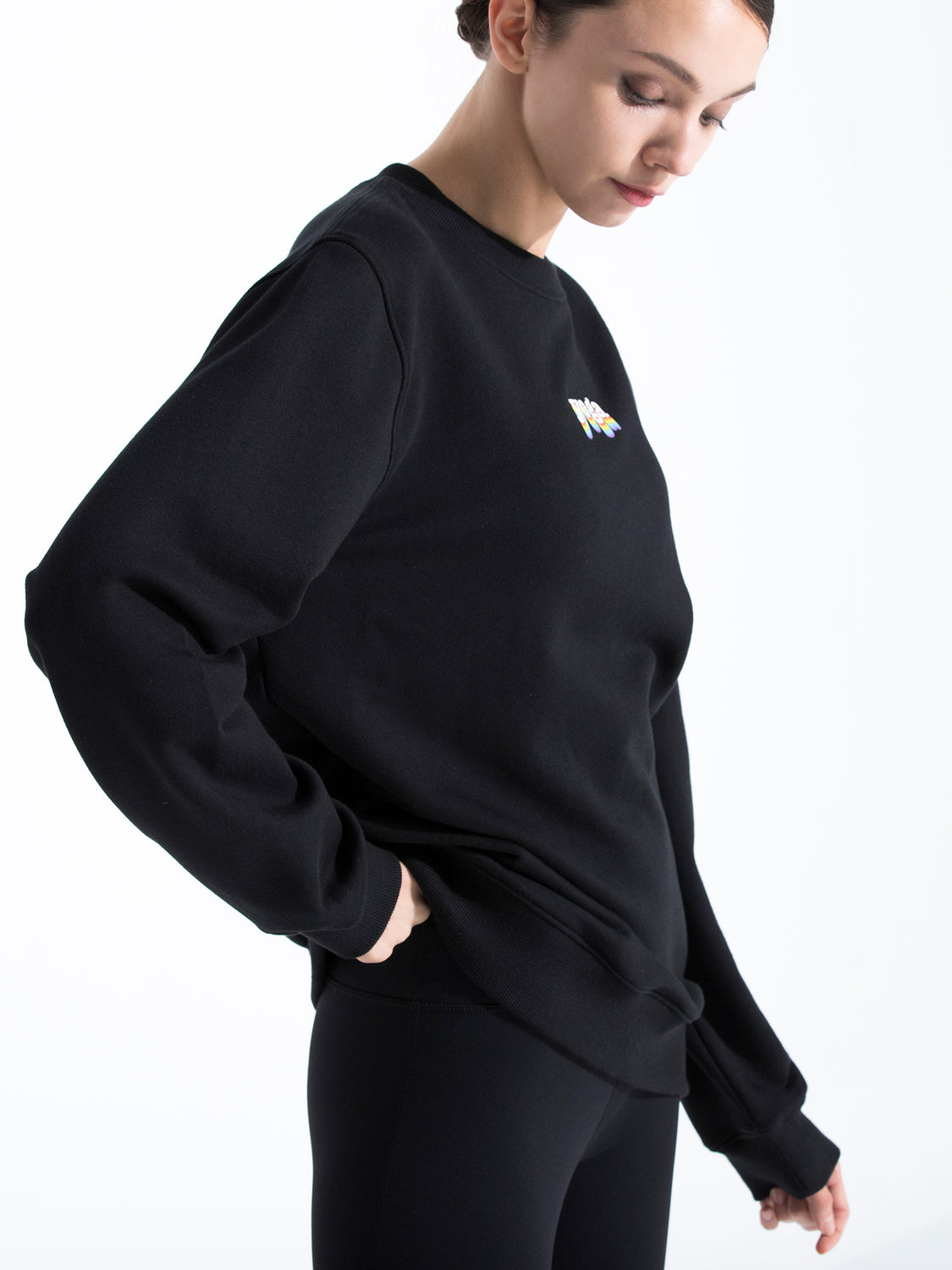 RAINBOW YOGA SWEATSHIRT, BLACK
