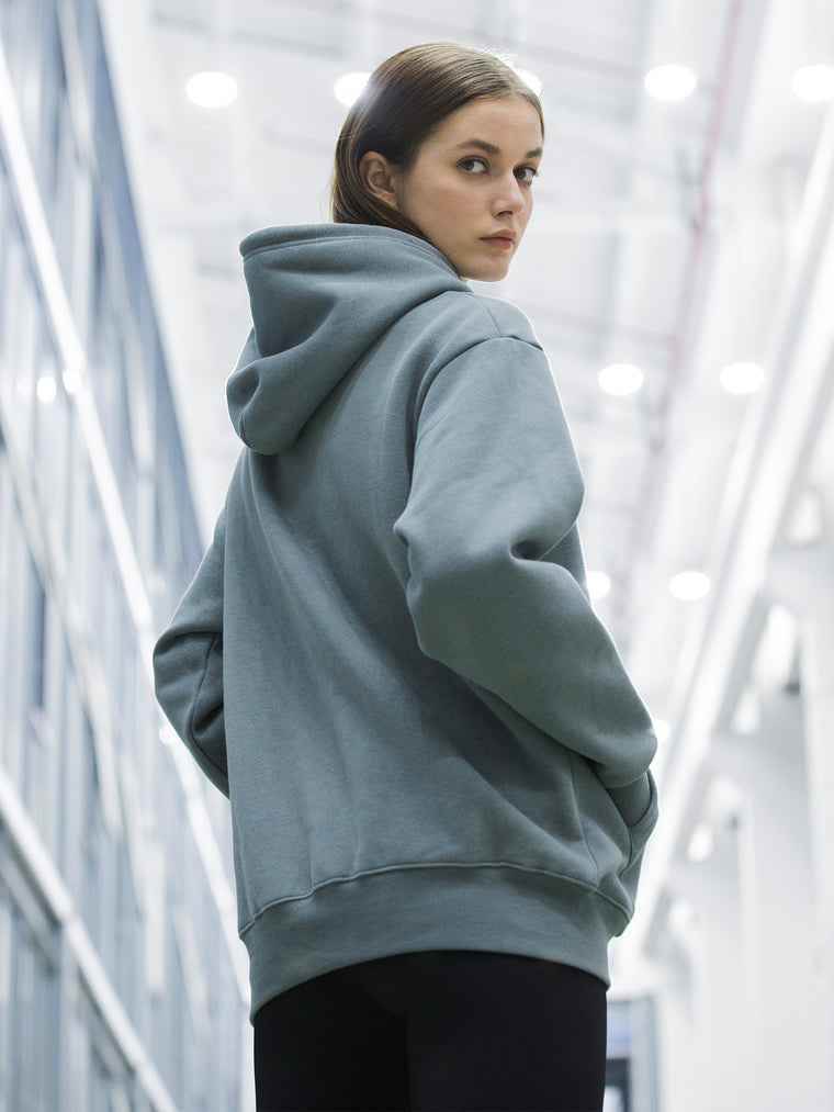 BL SPORTS FIT HOODIE, BLUE GREY