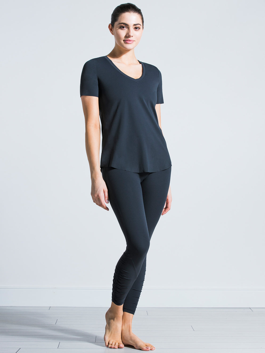 RELAXED NUDE TEE, MIDNIGHT GREY