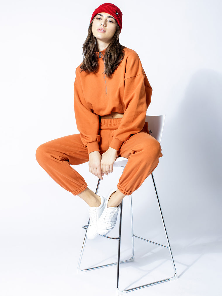 COTTON SWEATSUIT SET, SUNSET