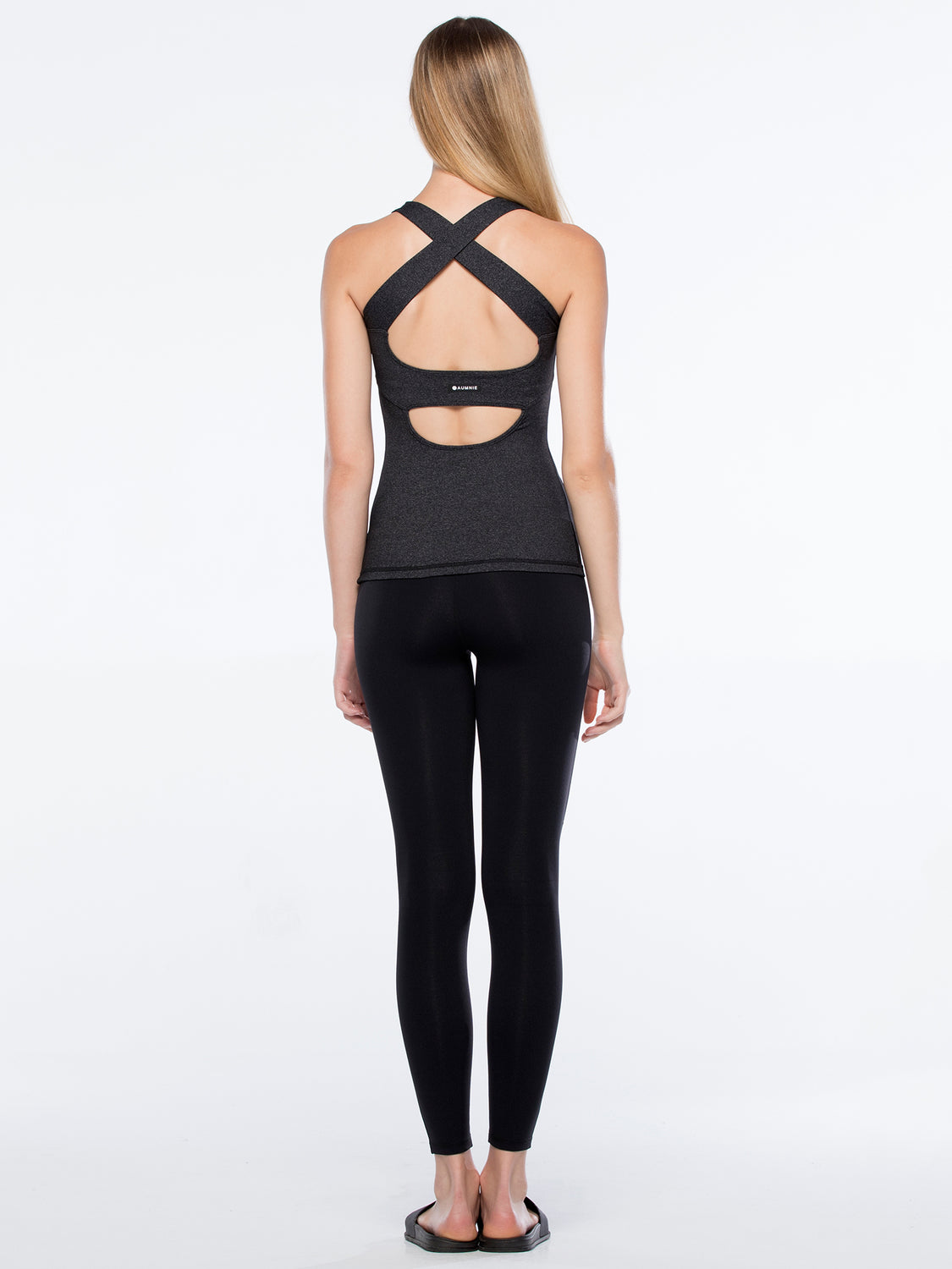 RHYTHM TANK 2.0, HEATHER BLACK