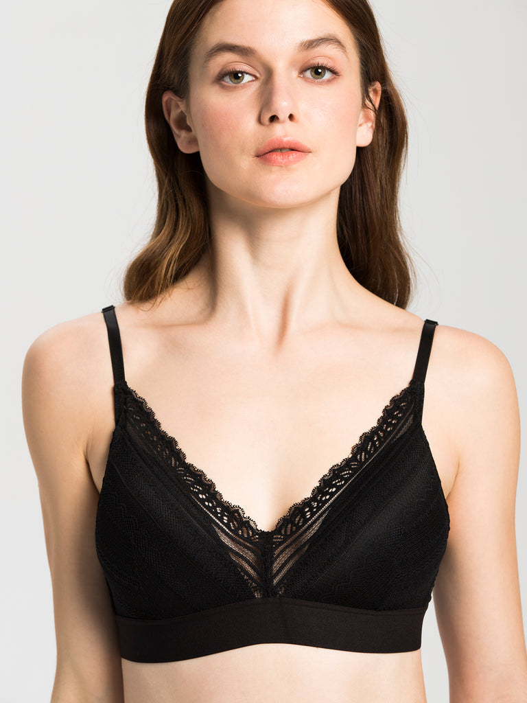 VINTAGE BRALETTE SET, BLACK