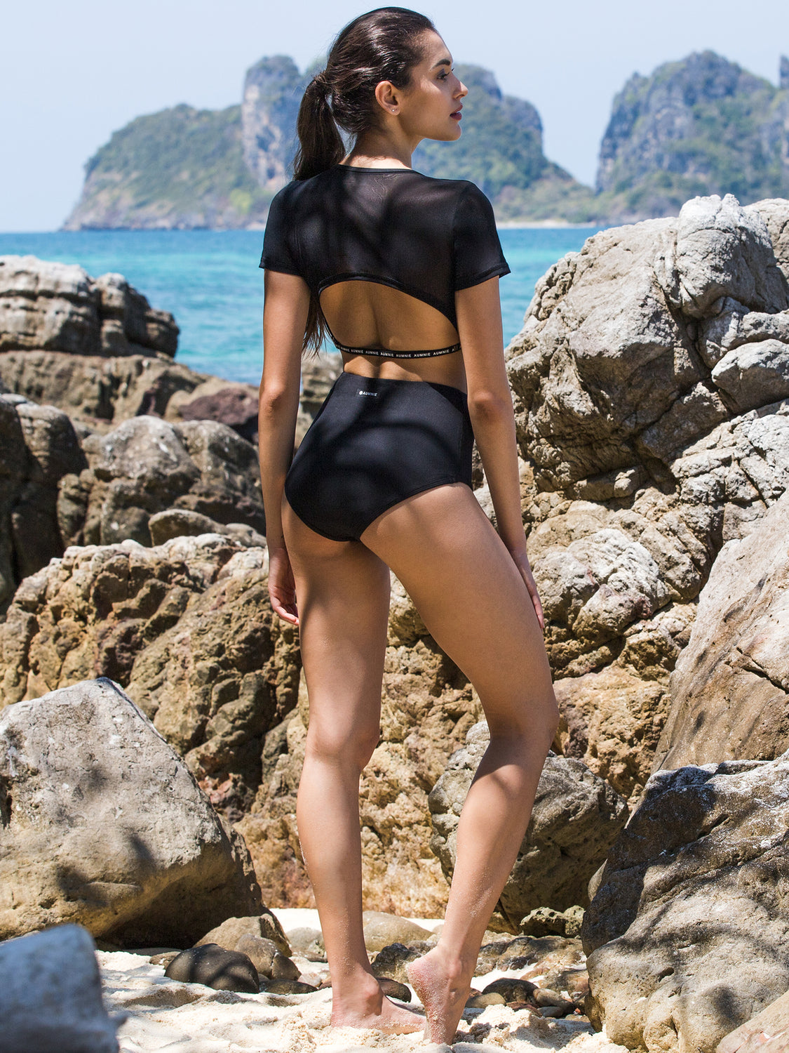 MESH WRAP & HIGH WAIST BIKINI SET