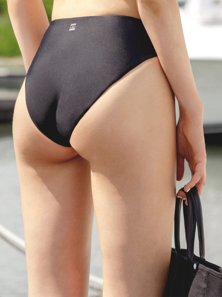 FULL WAIST SWIM BOTTOM, BLACK