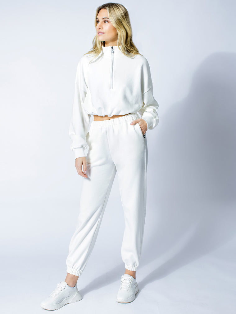 COTTON SWEATSUIT SET, WHITE