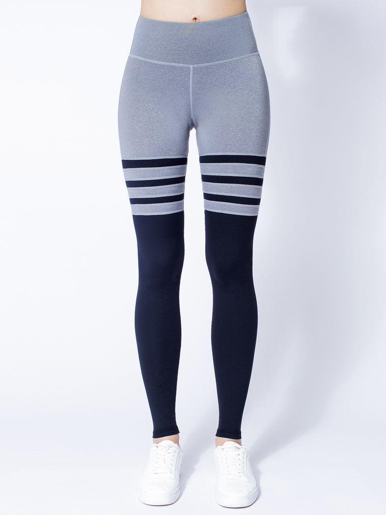 ICON PANTS, LIGHT HEATHER GREY/BLACK