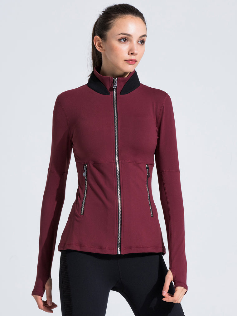 FIT JACKET 3.0, BORDEAUX/BLACK