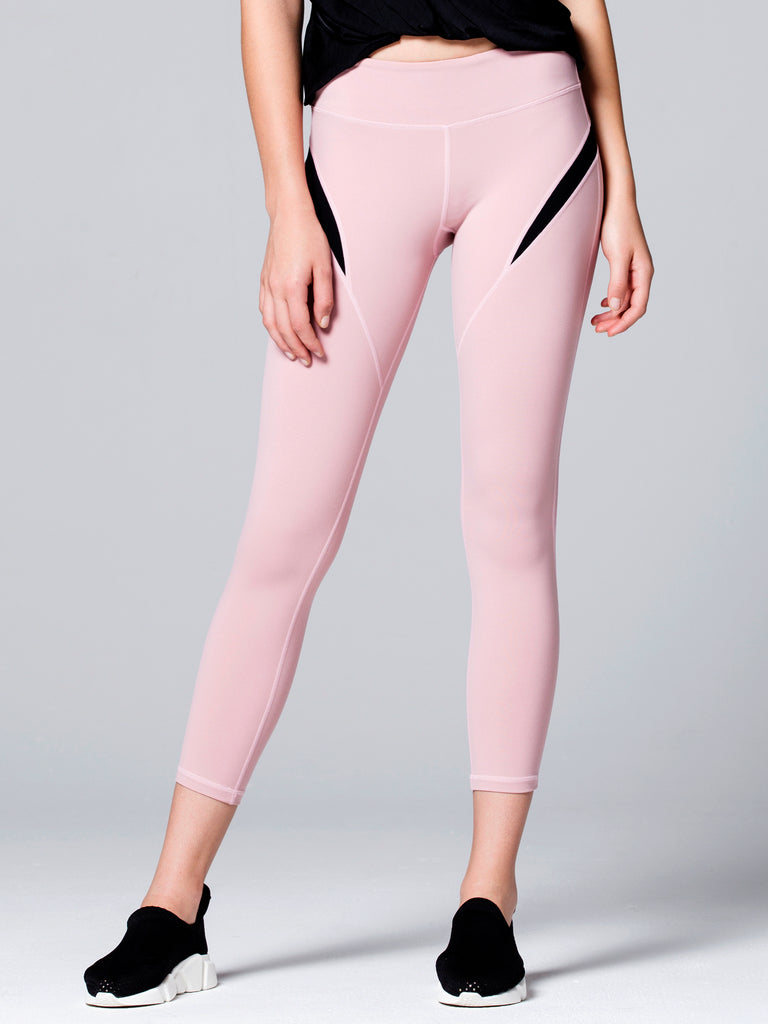 INCEPTION ANKLE CROPS 2.0, BLUSH/BLACK