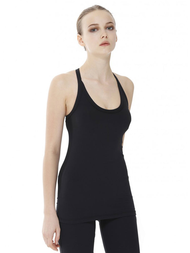 REFLECTION TANK, BLACK/BLACK MESH